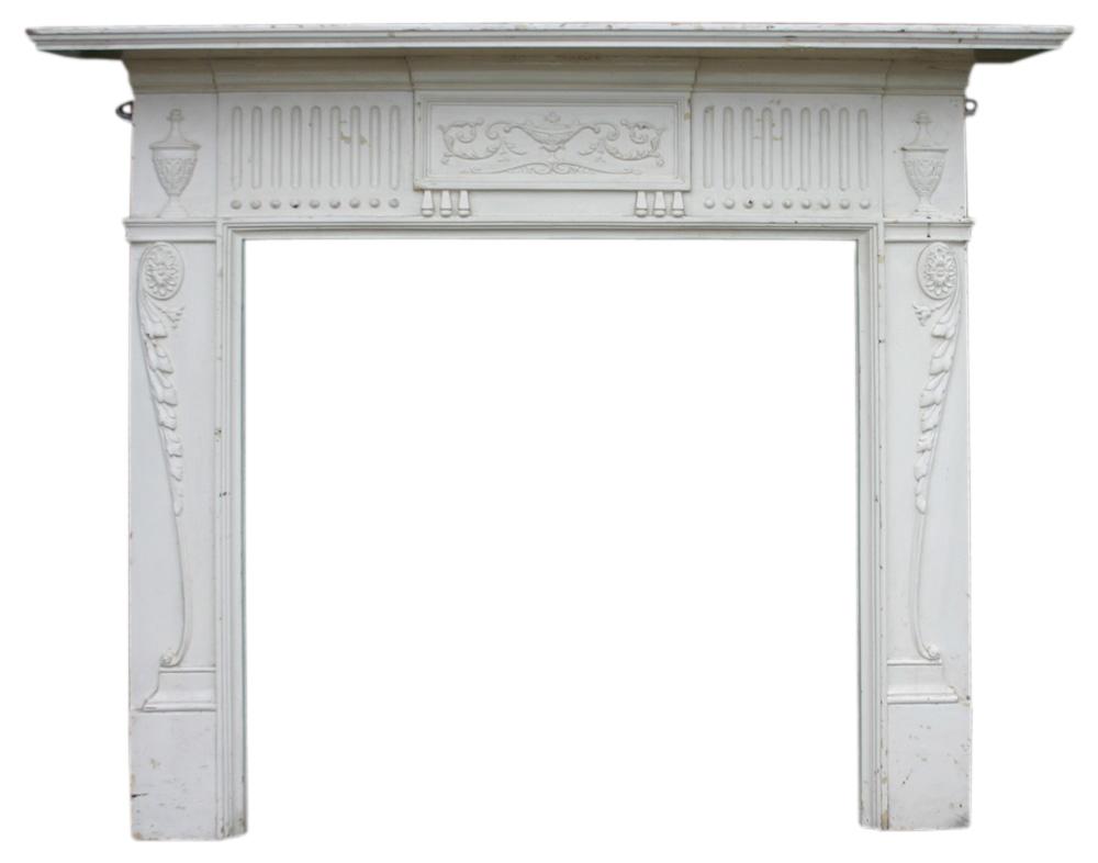 Antique Edwardian cast iron fireplace. -0