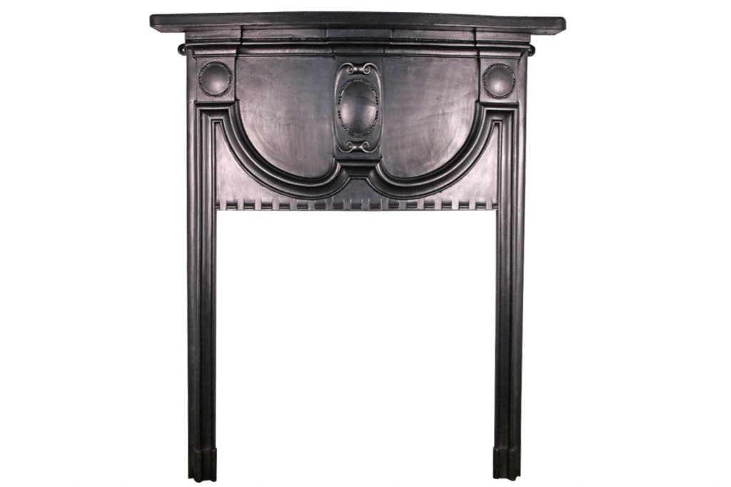 Small antique Edwardian cast iron fireplace surround-0