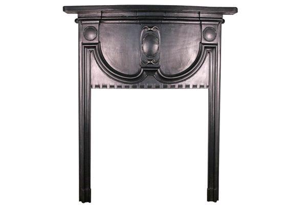 Small antique Edwardian cast iron fireplace surround-0