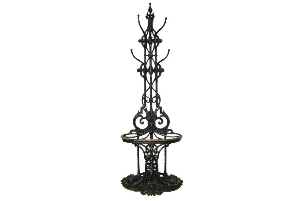19th Century Cast Iron Coalbrookdale Hall Stand-0