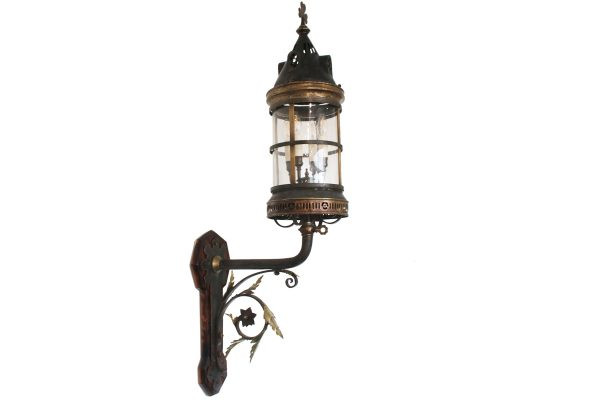 Large late 19th century Arts and Crafts wall lantern-0
